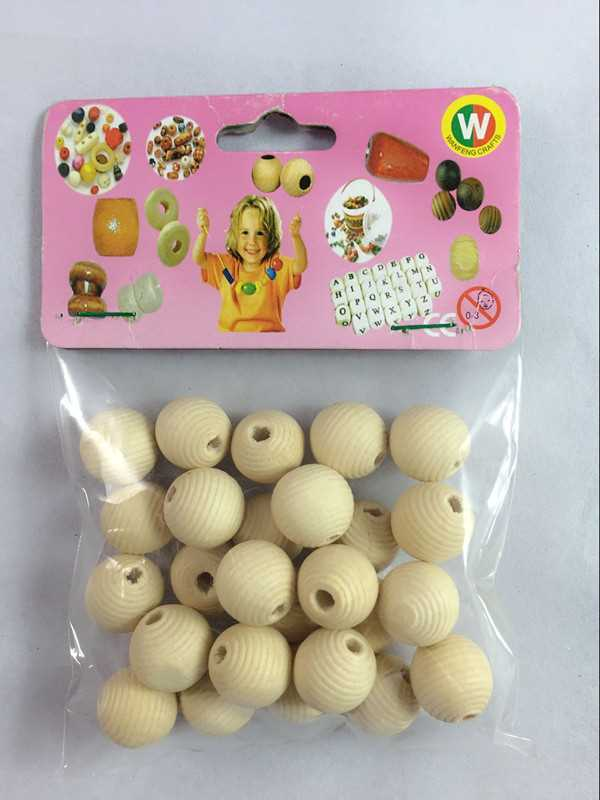 Wanfeng low price wooden beads for cheap white ceramic ring