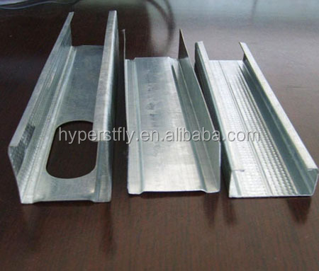 Drywall Partition light gauge steel Joist / Metal Steel Profile for ceiling/Stud&Track/