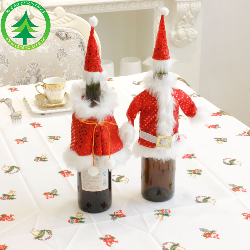 wholesale 2017 customized fabric gift wine tote bag cheap wine christmas tree bag