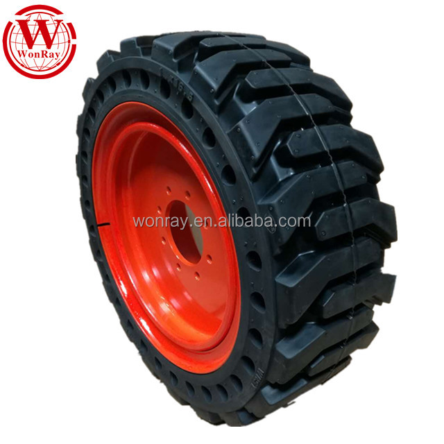 hot sale off the road <strong>10</strong> 16.5 20.5 25 29.5x25 26.5-25 bobcat skidsteer loader solid tires and rim