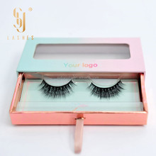 Private label eyelash packaging premium quality 3d mink strip lashes