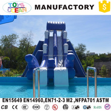 Giant Blue Inflatab Water Slide For Frame Pool