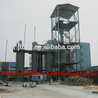 Double stage cold coal gasifier /gas fired aluminum melting furnace