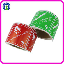 Adhesive Shipping Box Mark Labels Customized Warning Caution Stickers