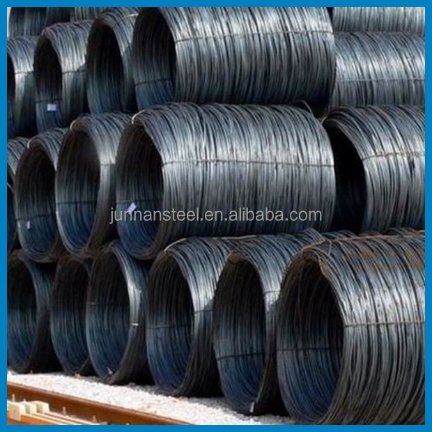 Hot Rolled 6.5 mm Diameter Low Slackness SWRH77BCr Mild Steel MS Wire Rod for Joint Rods / Netting / Thread Wire