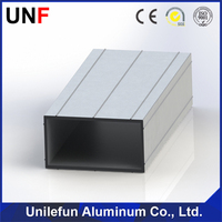 HOT! New modern aluminium extrusion for curtain wall frame manufacturer, aluminium profile for invisible frame curtain wall