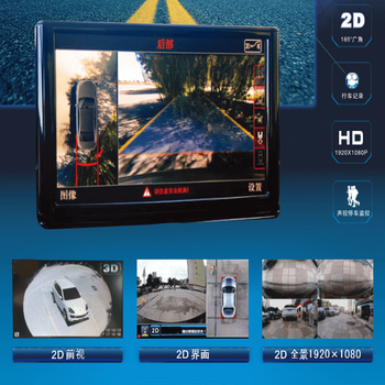4 camera 360 Panoramic Seamless System with 2D 2K HD surround view
