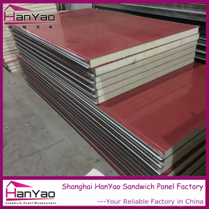 Shanghai Hanyao High Quality Insulated Color Steel Polyurethane Sandwich Panel for Wall and Roof