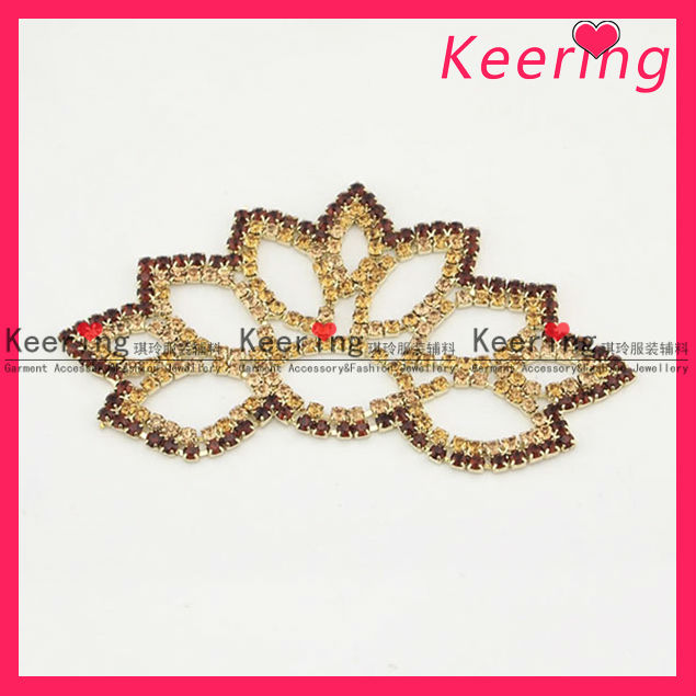 fancy gold wedding sash buckle WCK-874