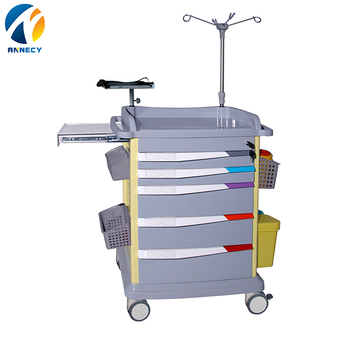 AC-ET017 New design trolley medical cart specification good functions ABS material