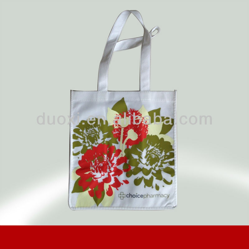 Eco-friendly non woven handbag flower printing girly tote bag 100% manufacturer