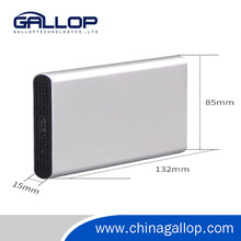 2.5 Inch Protable Aluminum External HDD Enclosure/Case Support 2TB HDD