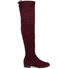 China manufacturer supply high quality flat heel genuine leather over the knee boots for women