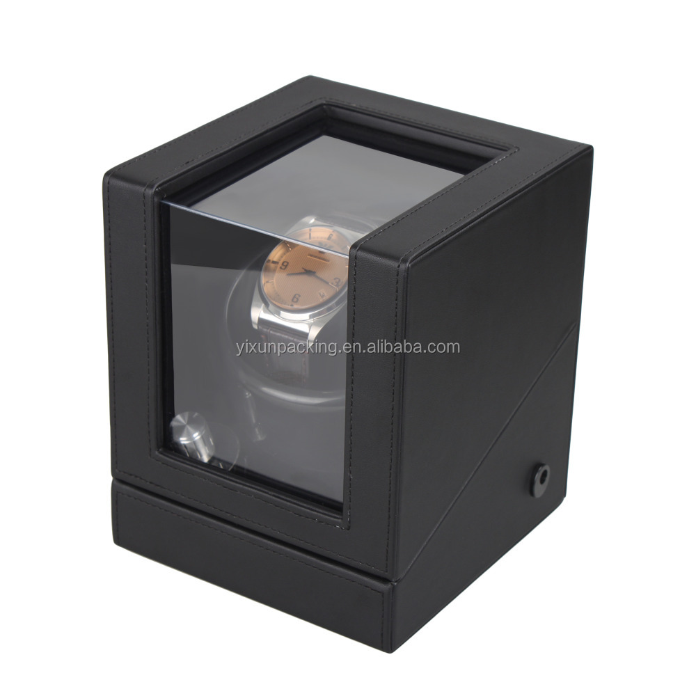 Customized size classic style with pillow leather watch winder box