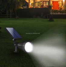 Solar Garden Lights Upgraded 4 LED Solar Spotlights Waterproof Outdoor Landscape Security Night Lights Dusk to Dawn Auto On/Off
