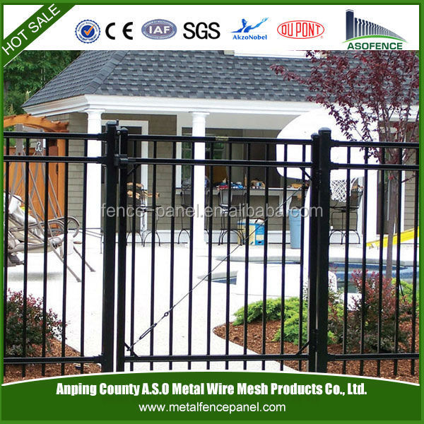pvc coated decorative cheap wrought <strong>iron</strong> gates