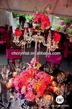 Crystal wedding Chandelier flower floral stand Candelabra,wedding table candelabra centerpiece table decorations MH-1580