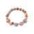 Personalized Natural Stone Charm Bracelet Brown Beads Seeds Chain Customized Handmade Bracelet Jewelry for Women