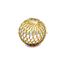 wholesale super quality jewelry findings glass pearl acrylic 18k gold plated brass mesh decorative beads for jewelry making