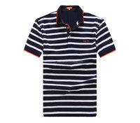 men's custom short sleeve printing softtextile 100%cotton striped polo t shirt