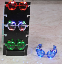 Cheap Apple shaped LED glasses, party LED sunglasses,Promotion LED sunglasses.