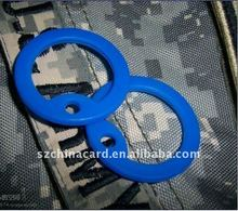 Blue Dog Tag Rubber Frame Soft Silencer Matching with 50*28mm