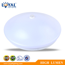 IP20 plastic cover with motion sensor smd 18w led ceiling light