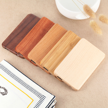 2017 World Thinest Ultra Slim 4000 mAh Easy Carry Custom Mini Portable Wooden Power Bank