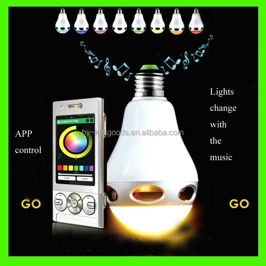China factory supply 15w LED+DTMF wifi smartphone music led bulb with CE,ROHS