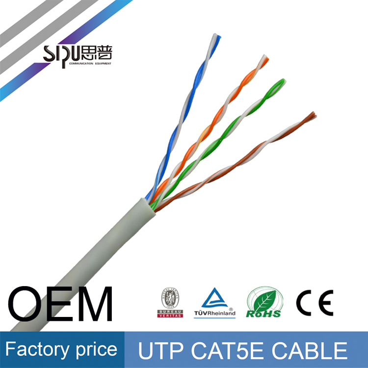 SIPU china manufacturer best price 4pr 24awg UTP FTP SFTP lan cat5e cable