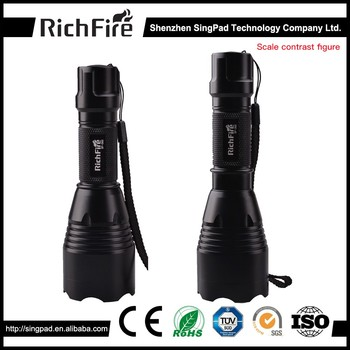 Aluminum zoom hunting tactical LED flashlight