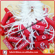 customized garment plastic string seal tag