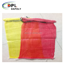 red yellow color plastic mesh netting bags for fruit vegetables