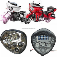 For Victory Engineered / Cross Country / Cross Roads Led headlight Motorbike Headlamp For Polaris Victory Motorcycle