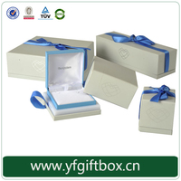 High class good quality paper cardboard big lots jewelry box wholesale custom jewelry packaging box with ribbon closure gift box