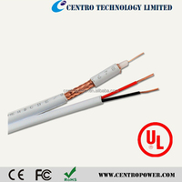 CCTV rg59+2c coaxial cable siamese rg59 coaxial cable with 2 power wire
