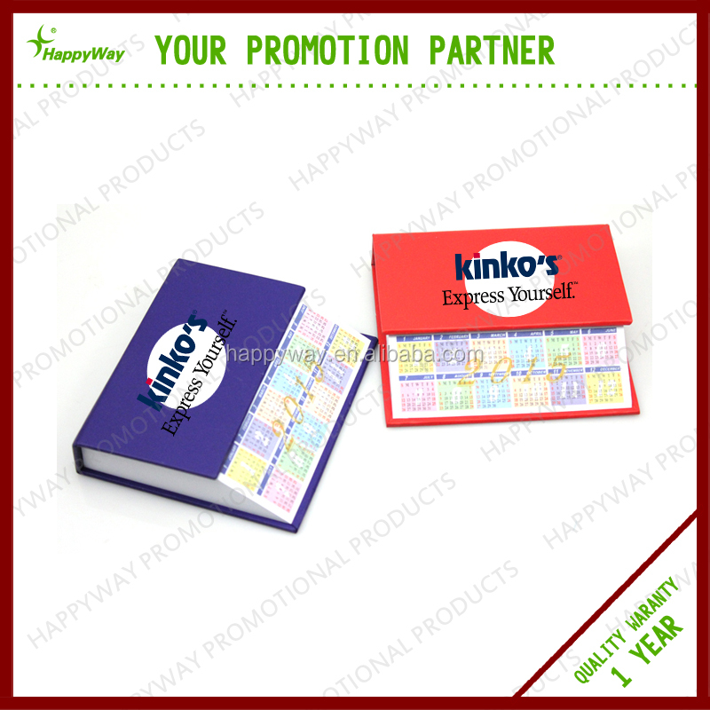 Promotional Mini Desk Custom Note Book 0703057 MOQ 100PCS One Year Quality Warranty