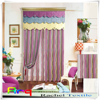 New designed pink Chenille jacquard lurex fabric wholesale using for modern curtain in living room/window