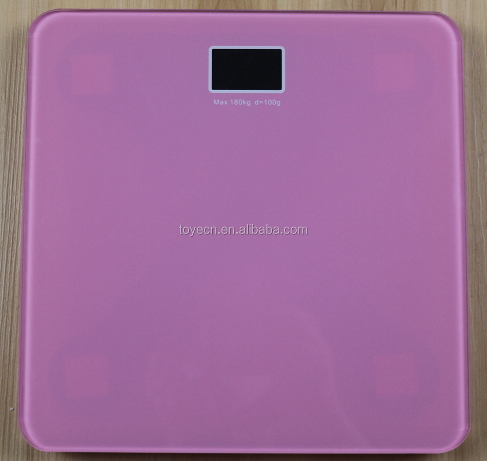 180Kg/330lb Bathroom Digital Body Scale Fat Hydration Muscle BMI Analysis Blue Tempered Glass Digital Personal Health Body Scale