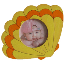 wholesale best price high quality sea shell shape kids wooden online photo frames free