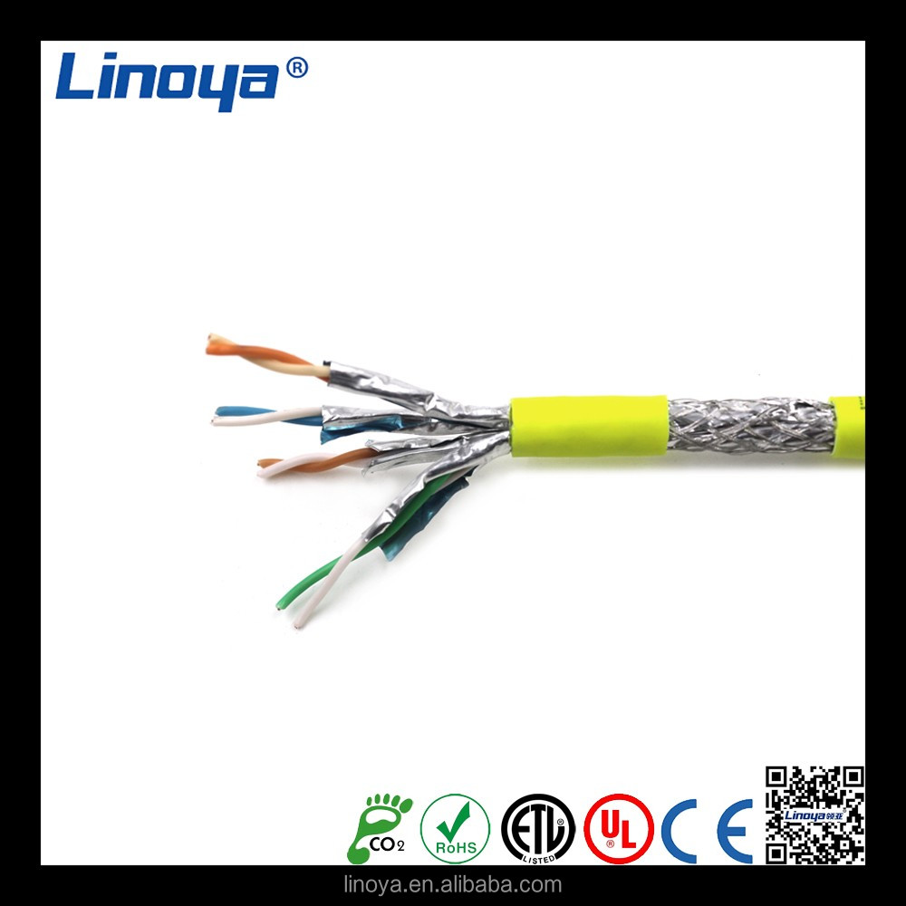 Cat 6A S/FTP Patch Lead Outdoor data lan network cable double screened twisted pair cable