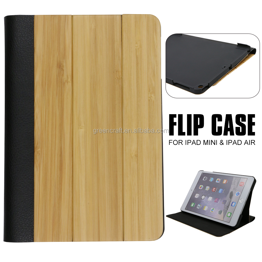 Best Quality Bamboo Leather For ipad Mini Cover