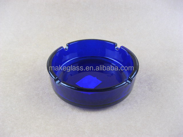 clear/colored glass cigar ashtrays