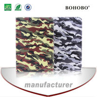 Factory price colourful camouflage PU leather case for ipad air 2