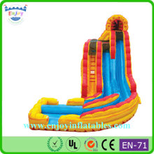 2015 Enjoy Classic Inflatable water slide, deep inflatable slide, giant inflatable pool slide for adult