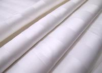 1cm Stripe 100% White Cotton Fabric For Hotel Duvet Cover