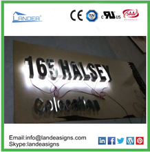 aluminum and stainless steel LED letter sign for famous brand sign