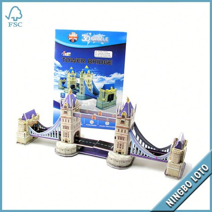 24 Hours Feedback Offer Credit building 3d paper model puzzle