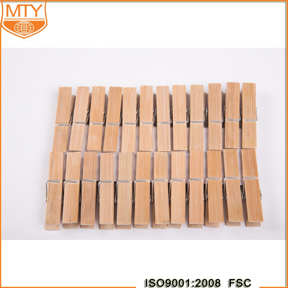 Mini Wooden Clothes Photo Paper Peg Pin Clothespin Craft Clips Pure Color