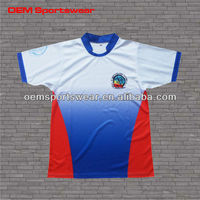 Polyester dry fit cheap soccer uniforms from China